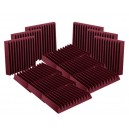"SET Auralex Acoustics 2"" StudioFoam Wedges Burgundy"