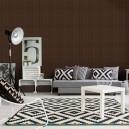 Tapet fonoabsorbant Square 8 aplicat intr-un living room ( pachet 5,69 mp)